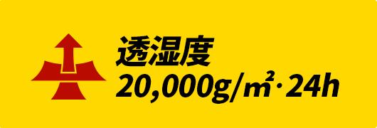 透湿度20,000g/㎡・24h